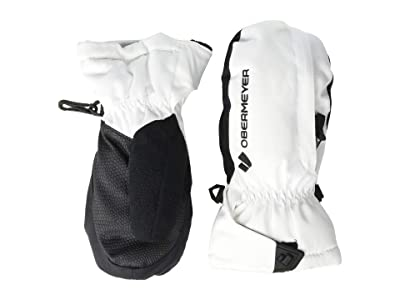 Obermeyer Kids Gauntlet Mitten (Little Kids/Big Kids) (White) Extreme Cold Weather Gloves