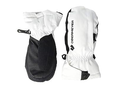 Obermeyer Kids Gauntlet Mitten (Little Kids/Big Kids) (White) Extreme Cold Weather Gloves