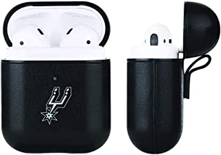 Black Leather NBA case compatable with Apple AirPod