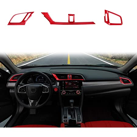 Thenice for 10th Gen Accord Gear Shifting Knob Decal ABS Red CVT ...