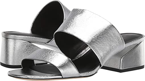 Silver Nugget Metallic Leather