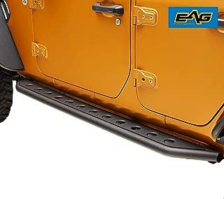EAG Off-Road Tubular Round Hole Rock Sliders Fit for 18-19 Jeep Wrangler JL 4 Door Rock Guard