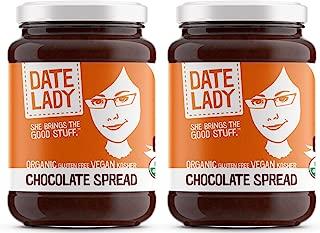 Date Lady Organic Chocolate Spread | Vegan, Paleo, Gluten-free & Kosher (2 Jars)