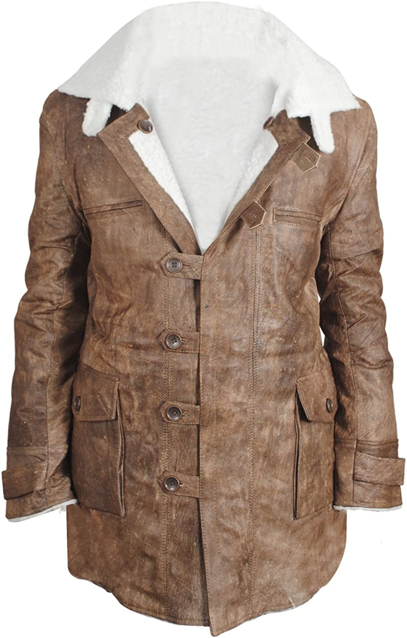 Jjacket ►Winter Collection◄ Dark Knight Rises Distressed Bane Coat - Real Leather