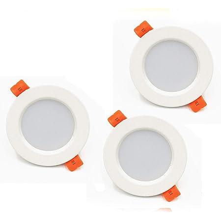 LED Spot Encastrable 5W 450lumen 220V IP44 Dimmable Blanc Chaud pour salle de bain et salon Spot rond pièce de bain avec 3 pièce