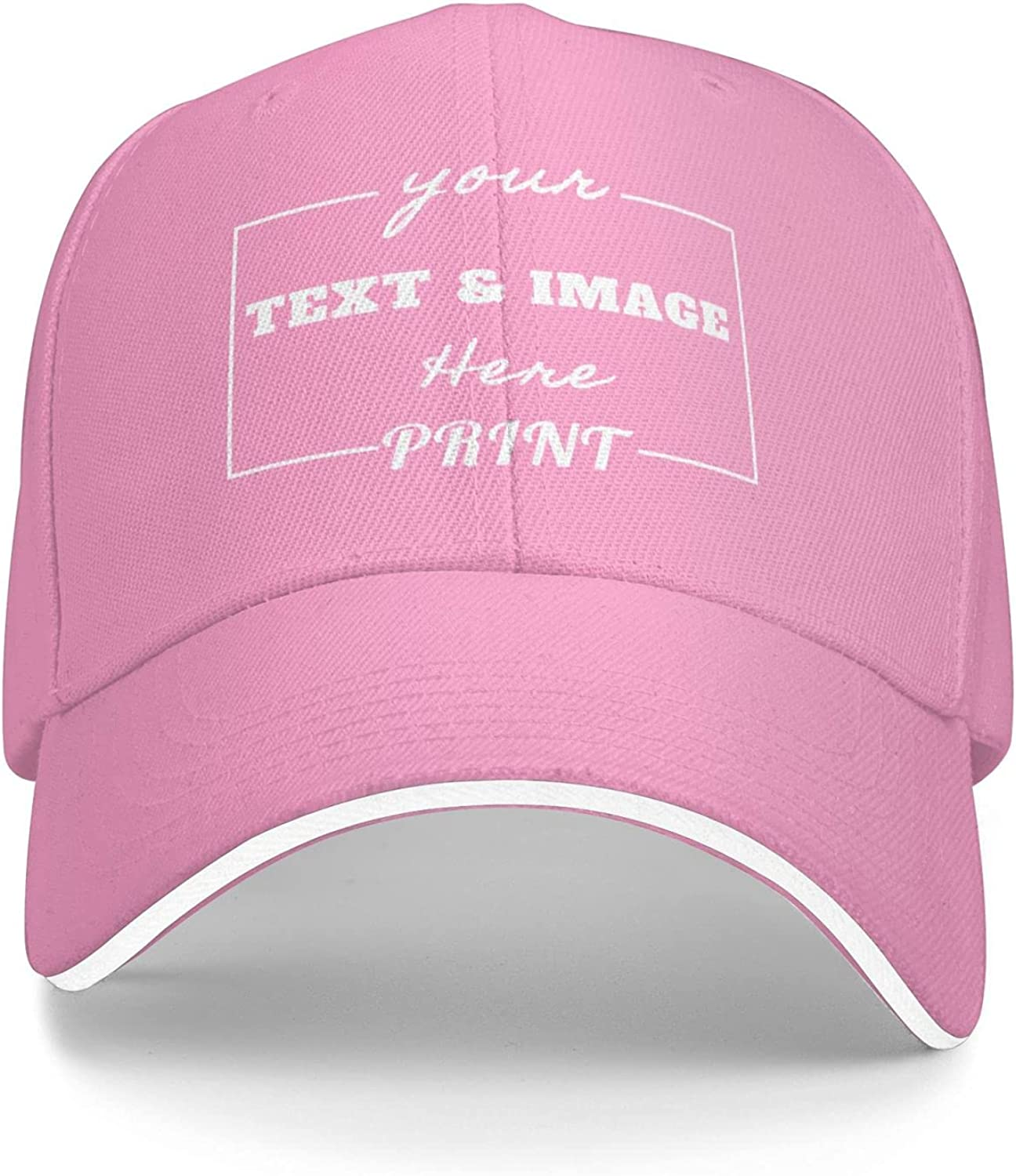 Design Your Own Hats Custom Baseball Cap with Your Text & Photo Personalized Adjustable Trucker Caps for Men & Women