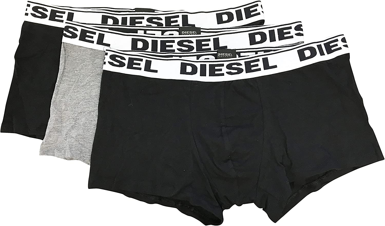 Diesel Men's Underwear Cotton/Elastane Blend Stretch Cotton, 3 Boxer