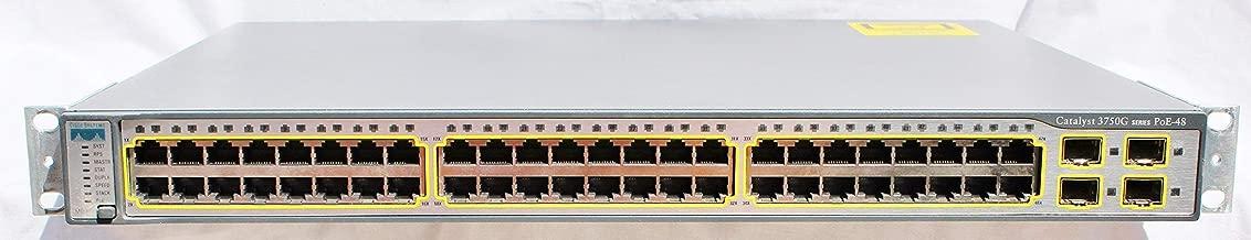 Cisco WS-C3750G-48PS-S Catalyst 3750 48 10/100/1000T PoE + Switch