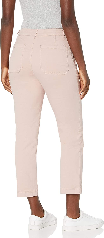 Goodthreads Women's Standard Stretch Chino Straight Crop Pant