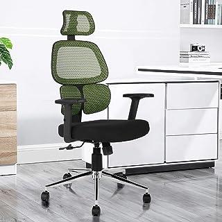 FurnitureR Silla de Oficina ergonómica Sillas de Malla con