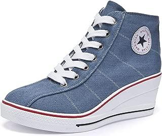 Women's Canvas High-Heeled Fashion Shoes Platform...
