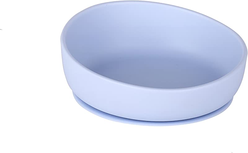 Lucky Sandwich Spillproof Silicone Baby Feeding Bowl With Stay Put Suction Base Blue