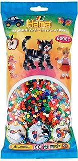 Hama Perlen 205-68 Midi Perles à repasser Environ 6000 pièces en 52 couleurs différentes