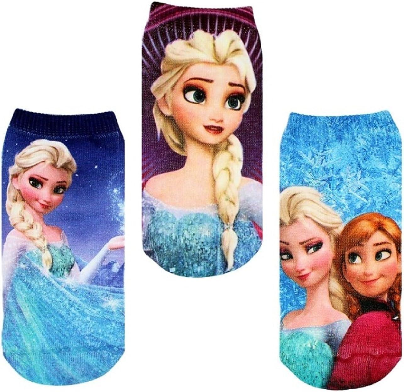 Frozen Elsa & Anna Socks 4 Pairs