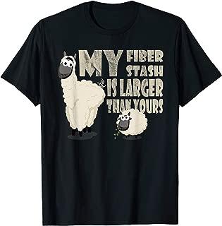 My Stash is Bigger than Yours Tshirt Alpaca Fiber Spinner