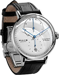 FEICE Automatic Watch for Men Bauhaus Watch Mens Mechanical Watch Stainless Steel Domed Mirror Analog Casual Dress Watches Unisex -FM202 (42mm)