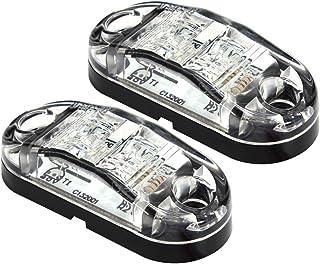 Dream Lighting 2 Pack 12V DC Cool White LED Side Marker Clearance Lights Indicators Trailer Truck RV Motorcycle Lamp Surfa...