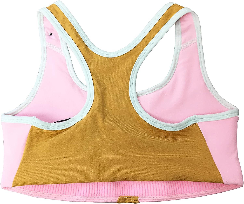 Nike Girls Sports Bras Polyester/Spandex Blend Swoosh Sports Bra DA0896 Multicolor (Medium)