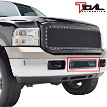 Tidal Rivet All Black Stainless Steel Wire Mesh Overlay Bumper Grille Fit for 05-07 Ford Super Duty F250/F350/F450/F550