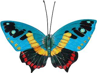 NICEXMAS Art Mural Papillon en Métal Décoration Murale Inspirante Sculpture Murale Suspendue pour Chambre Clôture Patio In...