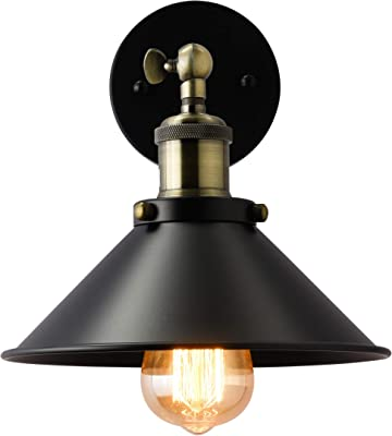 ISRAMP Sconce Arm Swing Wall Light, 240-Degree Whirling Wall Lamps Bronze Finish Industrial
