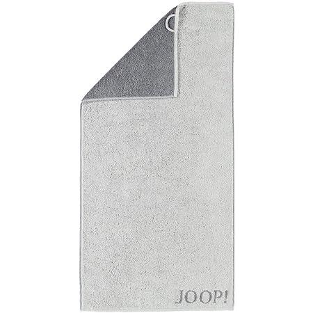 JOOP! Handtücher Elegance Doubleface Frottier hellgrau dunkelgrau 50/100