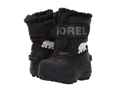 SOREL Kids Snow Commandertm (Toddler) (Black/Charcoal 1) Kids Shoes