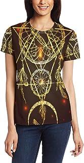T-shirt voor vrouwen meisjes Dreamcatcher driehoek aangepaste korte mouw