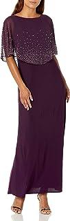 Alex Evenings Women's Plus Size Long Embellished Popover Dress