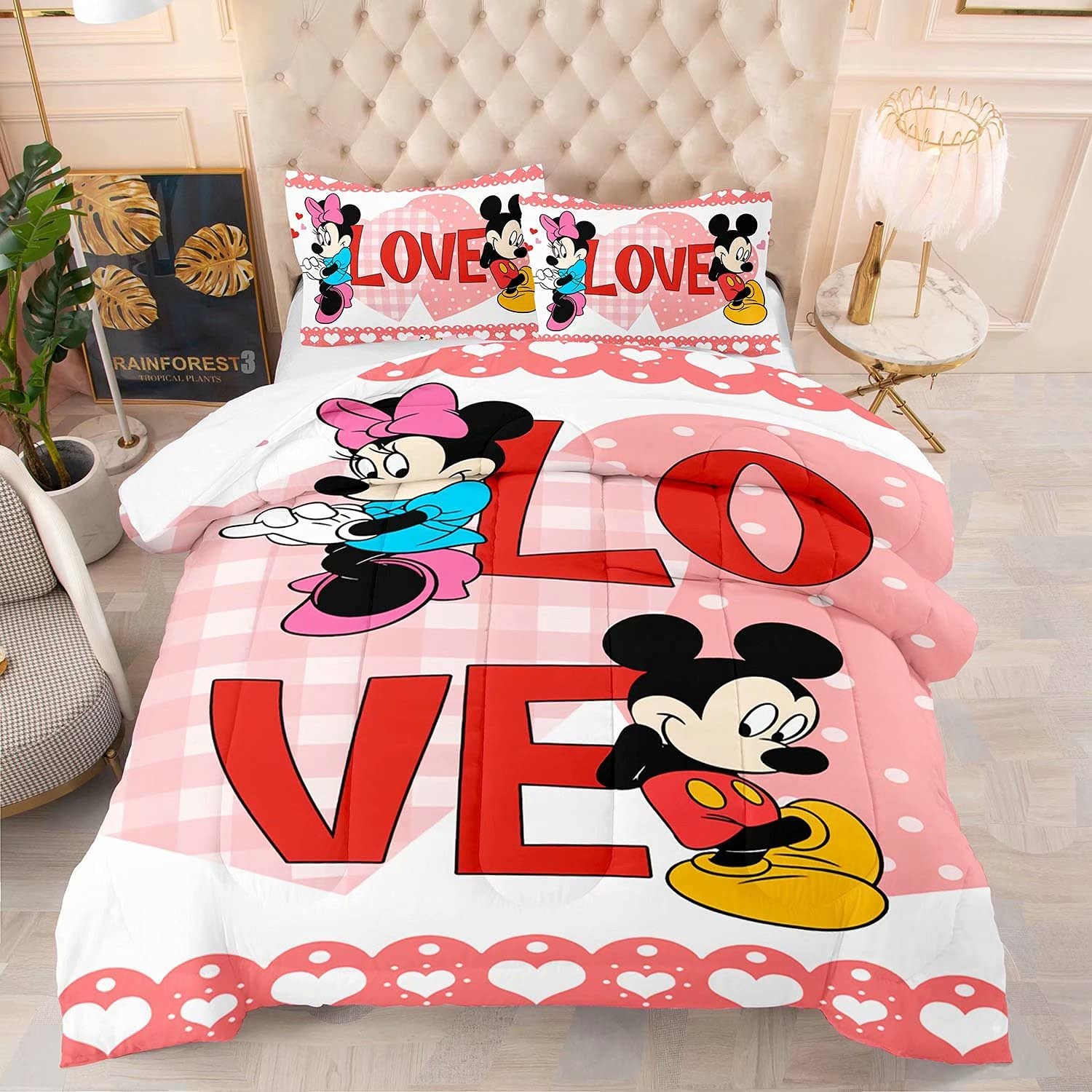 Mickey Mouse Bedding Set Minnie Manufacturer regenerated product Comforter Twin Size New Free Shipping