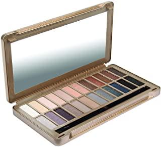 BYS Nude Exposed Eyeshadow Palette, 24 Colors in Tin Kit with Mirror - Highly Pigmented Matte & Metallic Shades