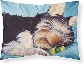Caroline's Treasures Naptime Yorkie Yorkshire Terrier Fabric Standard Pillowcase AMB1075PILLOWCASE, AMB1075PILLOWCASE, Mul...