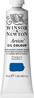 Winsor & Newton Artists' Oil Colour Paint, 37ml Tube, Ultramarine Green Shade