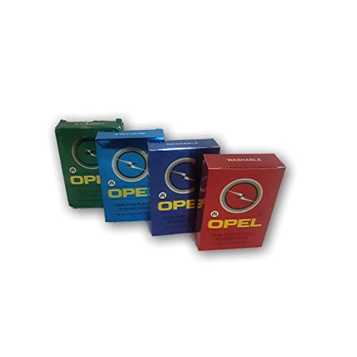 Opel Gold Plastic Playing Cards - Pack of 4