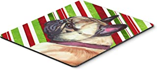Caroline's Treasures French Bulldog Frenchie Candy Cane Holiday Christmas Mouse Pad, Hot Pad/Trivet (LH9594MP)