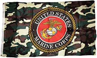 ALBATROS 3 ft x 5 ft U.S. Marines USMC Marine Corps Woodland Camouflage Flag Grommets for Home and Parades, Official Party, All Weather Indoors Outdoors