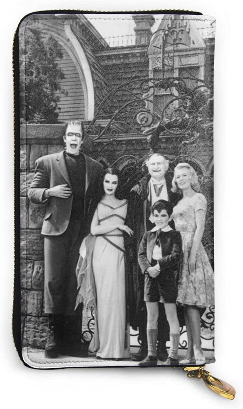 The Munsters Wallet Mens Womens Slim Zipper Leather Large Seattle Mall Indianapolis Mall