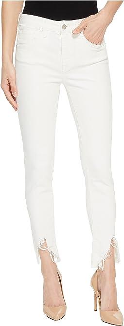 Tess Super Skinny in White Fringe Vintage