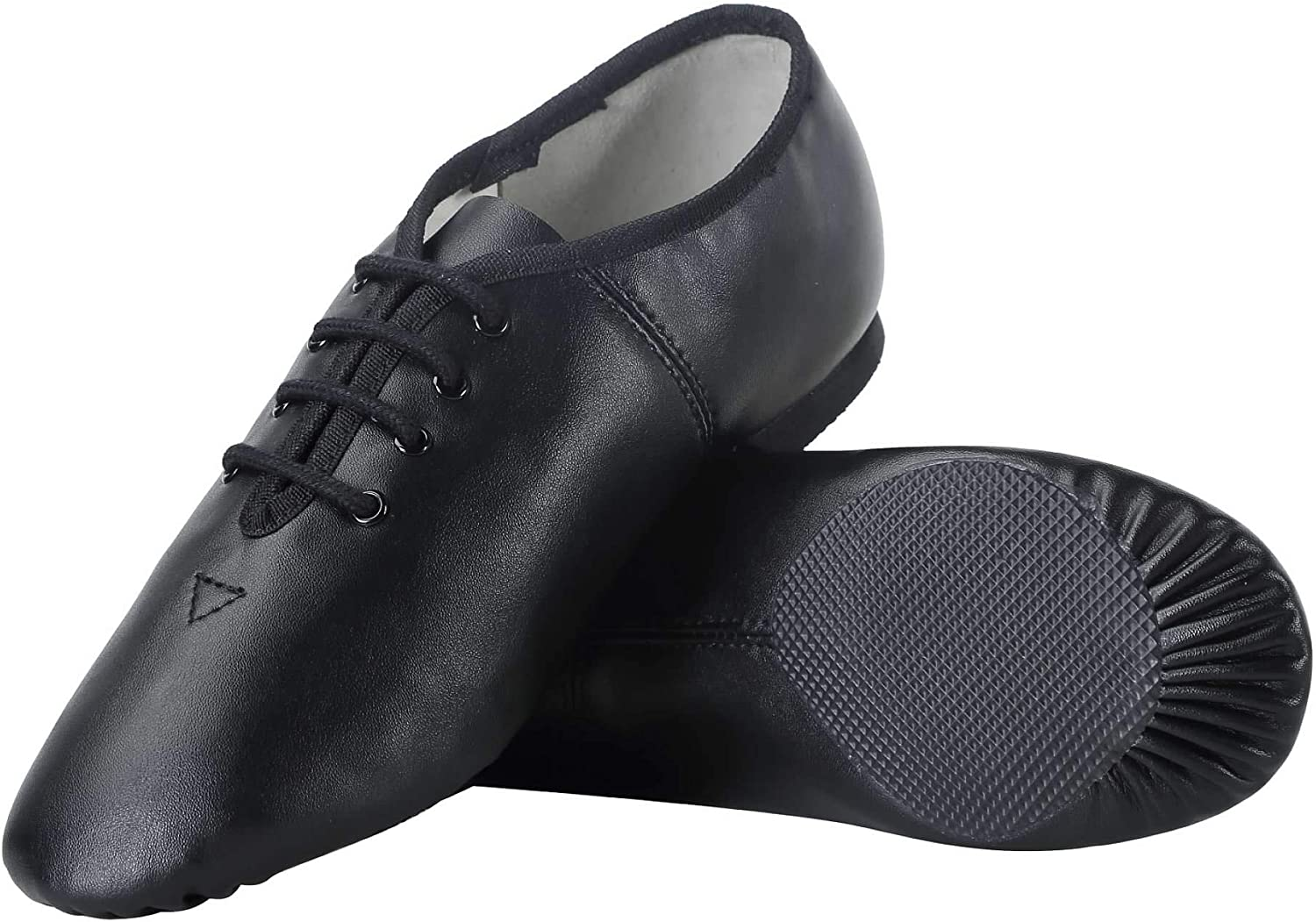 Dynadans Unisex PU Leather Upper Lace Up Jazz Shoe for Women and Men's Dance Shoes