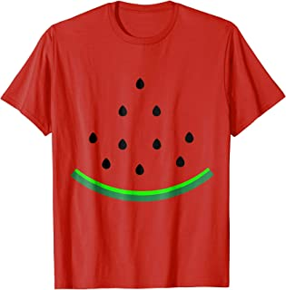 Watermelon Halloween Fruit Lazy Costume T-Shirt