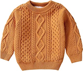 Kid's Vintage Twist Warm Fleece Lined Sweater, 12 Months-10 Years