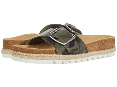 J/Slides Lust (Green Camo Leather) Women