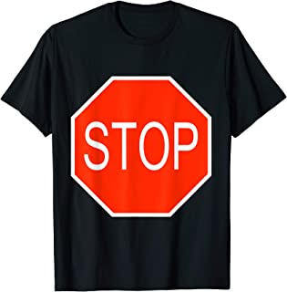 Stop Sign Simple Easy Halloween Costume T-Shirt