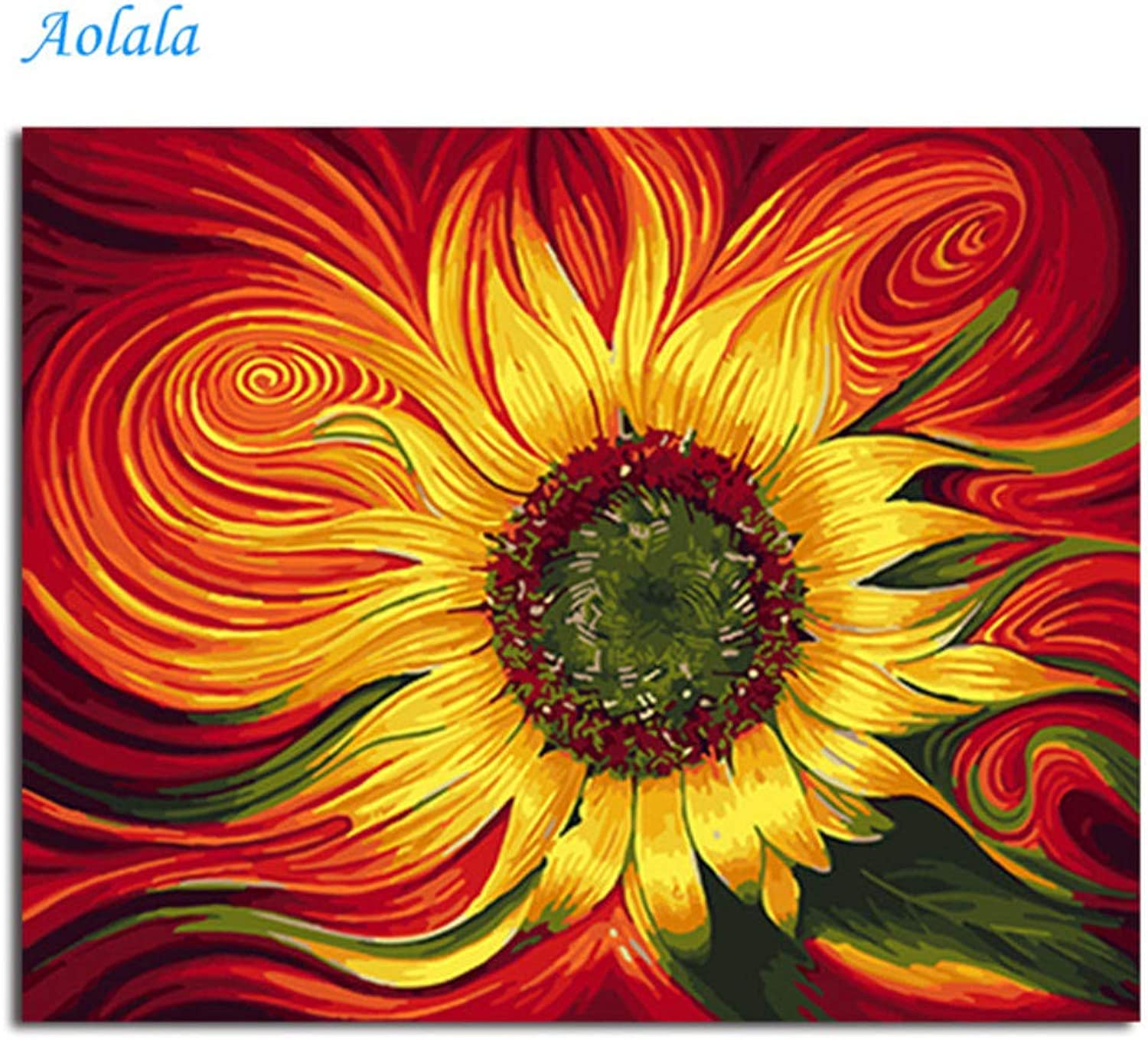 Oil Paint DIY Painting by Numbers coloring by Numbers Flower Home Decoration Painting and Calligraphy,60x75cm