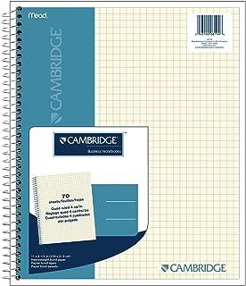 Cambridge Quad Wirebound Notebook 70ct (06194) Pack Of 6