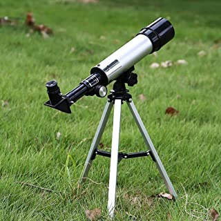 Sisliya Kids Telescopes, Manfore 90X Science Astronomical Telescope with Tripod and 2 Magnification Eyepieces, Kids Scienc...