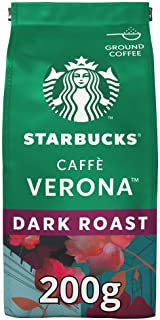 Starbucks Caffè Verona Dark Roast Ground Coffee Bag, 200g