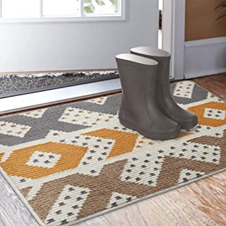 "Color&Geometry Indoor Doormat, Indoor Outdoor 32""x40"" Mat Waterproof, Non Slip Washable Quickly Absorb Moisture and Resist Dirt Rugs for Entrance"