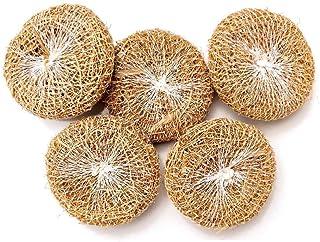 LJL Traders Herbal Handmade Ramacham - 5 Natural Vetiver (Khus) Bath Scrubber