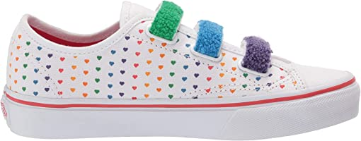 (Chenille) Rainbow Heart/True White